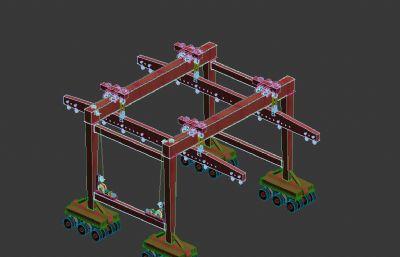 450T�胎式���T吊3D模型