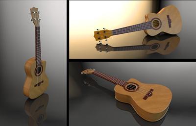 ����吉他,尤克里里C4D模型