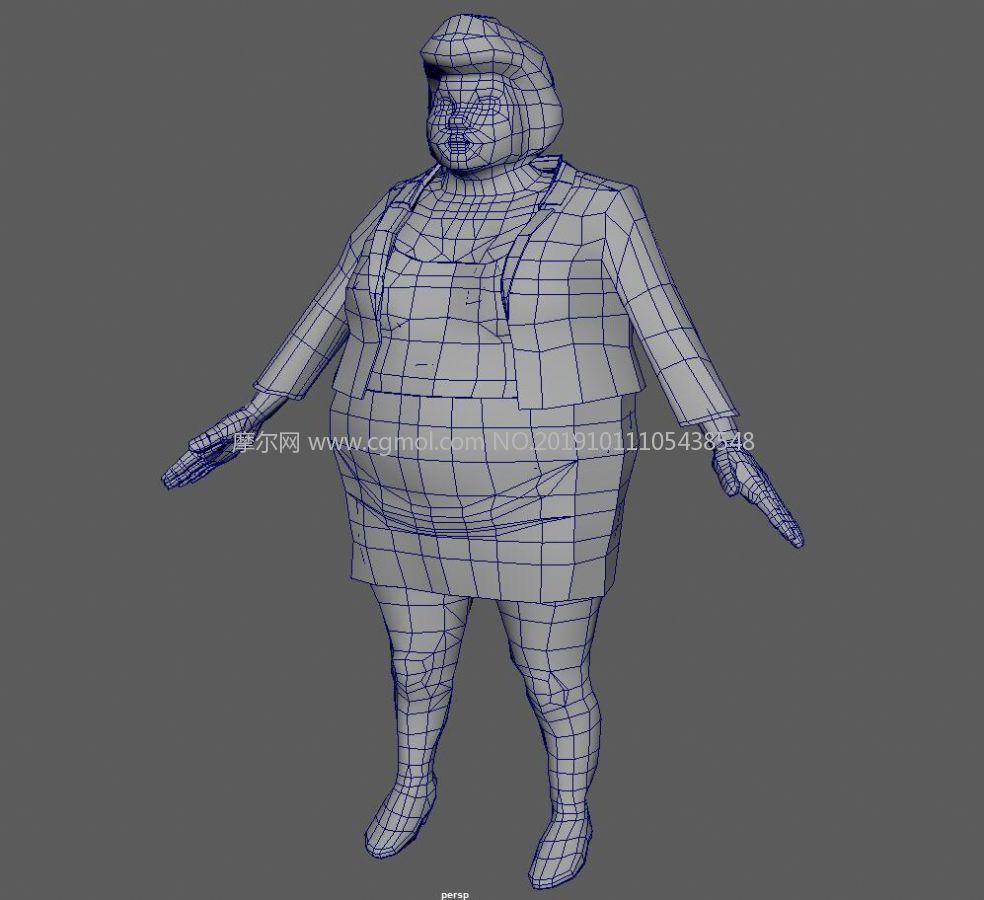 胖女人maya简模