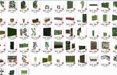 垂直绿化、植物墙SU模型(网盘下载)
