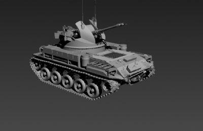 高模M42��疖�坦克3D模型
