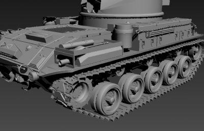 高模M42陆战车坦克3D模型