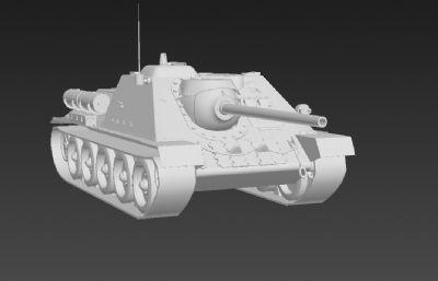 高模--坦克3D模型