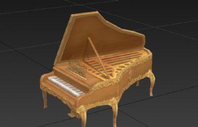 游�蚶锏匿�琴3D模型�模