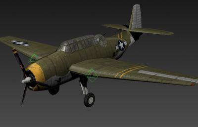 美国二战飞机TBF3D模型
