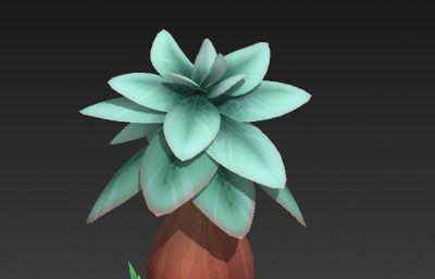 Q版��特植物模型3D模型