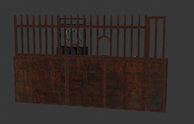 古代当?#26691;?#38138;柜台3D模型