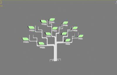 �G色生活抽象�渚坝^小品3D模型