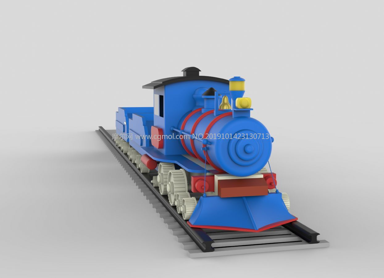 小火车,卡通运货小火车3DM模型