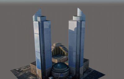 商场,商务楼su模型