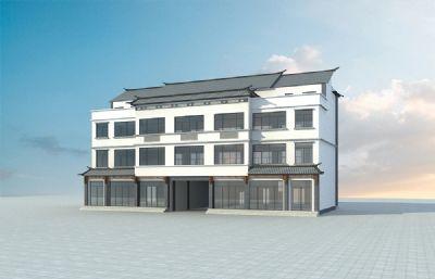 白族民居建筑房,三�愚k公��3D模型