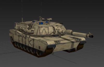 美�����b��M1A2主�鹛箍�3D模型