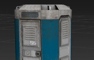 移動設施,移動廁所3D模型