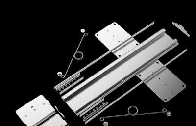彈簧滑軌,升降導軌STP模型