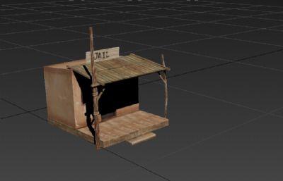 小屋,��雠R�r小�O�z3D游�蚪ㄖ�模型
