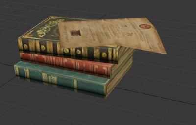 欧洲书籍3D游戏模型