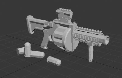 低模---榴彈槍3D模型