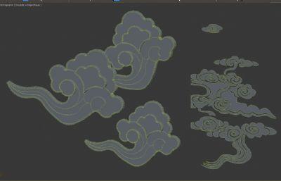 祥云云纹3D模型