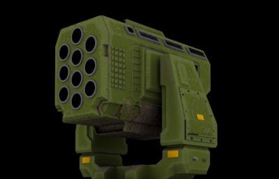 次时代导弹炮台3D模型