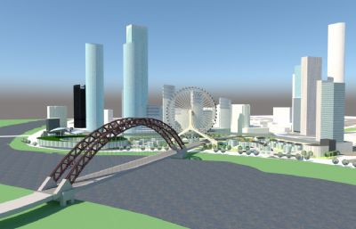 城市�o城河周�大�蚰μ燧��鼍�su模型