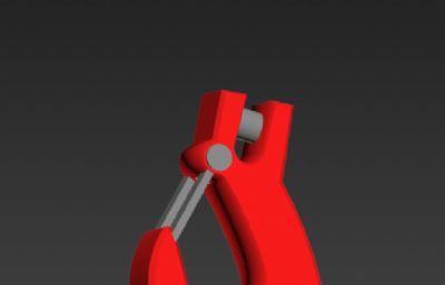 吊钩,挂钩3D模型