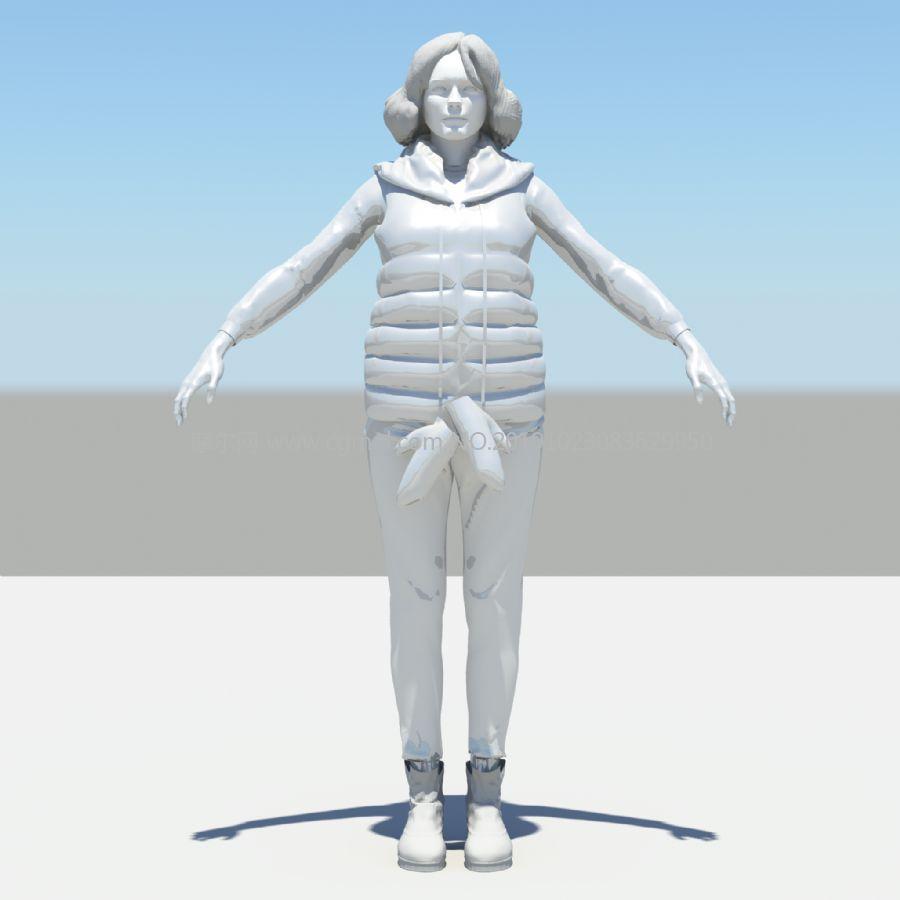 穿羽�q�R甲,羽�q服的女人maya模型