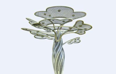 枝繁叶茂雕塑创意OBJ模型