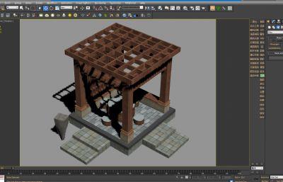 凉亭,休息亭,亭子3D模型