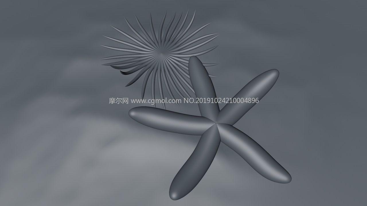 海底珊瑚�?�生物C4D模型,��500��海底�[��赢�