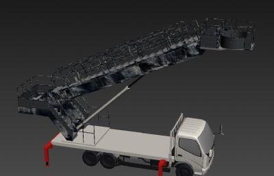 高空升降�3D模型,做�f效果,��10��升起平�_�赢�