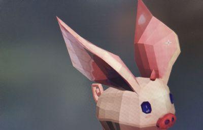 小飞猪3D模型,有贴图