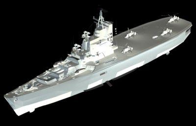 �K�莫斯科�反��巡洋�FBX模型