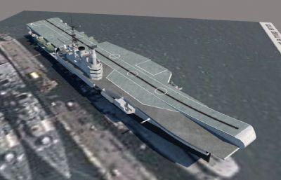 英��皇家海��技神�航空母�su模型