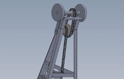 �_踏式磨床solidworks模型
