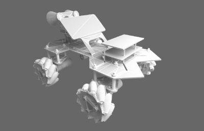 点光板车3D模型