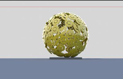 向日葵雕塑�O�3D模型