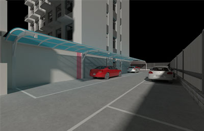 小�^道路��韧\�棚,停�位3D模型