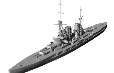 一战德国马肯森级战列巡洋舰STL模型