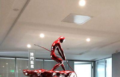 攀登者挑战雕塑3D模型
