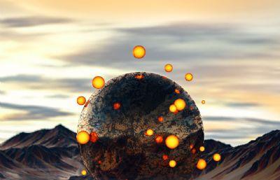 星球引力大��鼍�C4D模型