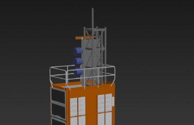 工地施工升降�C3D模型