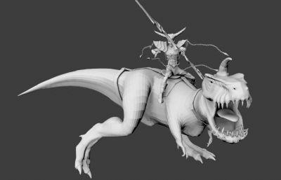 恐���C手,狩�C怪物�鹗�OBJ模型