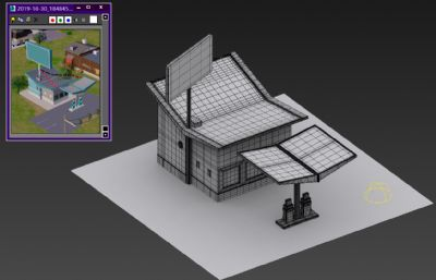 简易加油站3D模型