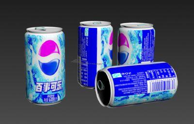 百事可�仿��b,易拉罐3D模型