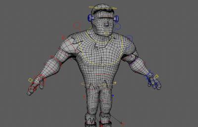 �Ы�定的�f圣��b扮人物maya模型