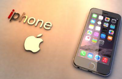 手機手機海報場景3D模型