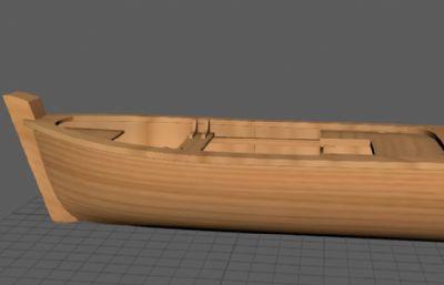 小木船maya2018模型