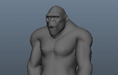 大猩猩STL模型