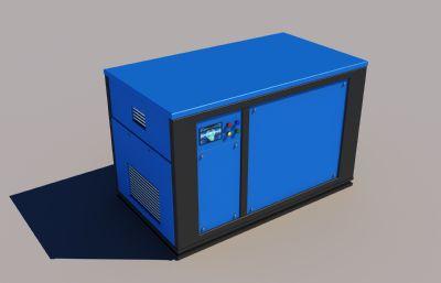 撬裝式空壓機3D模型