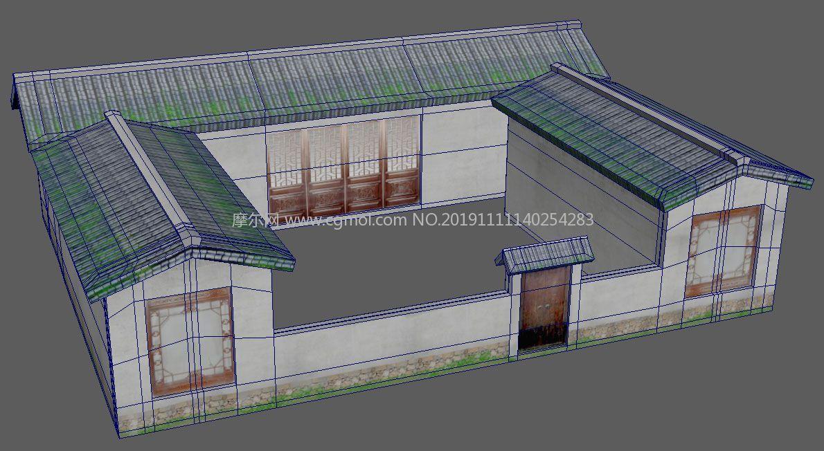古代平民住宅maya,高清晰�N�D版